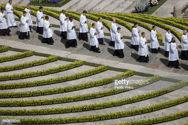 Pope Francis leads the Easter Sunday Mass and delivers his Urbi et Orbi message in St. Peter's Square in Vatican City.