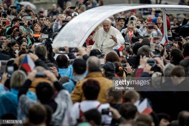 Pope Francis leads the weekly General Audience in St. Peter's Square. The General Audience is held every Wednesday, when the Pope is in Vatican, in...
