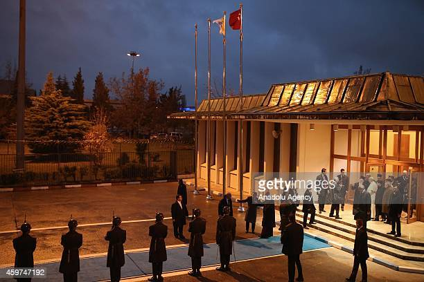 Pope Francis leaves Turkey in company with Turkish Military ceremony at the end of a threeday visit in Istanbul on November 30 2014