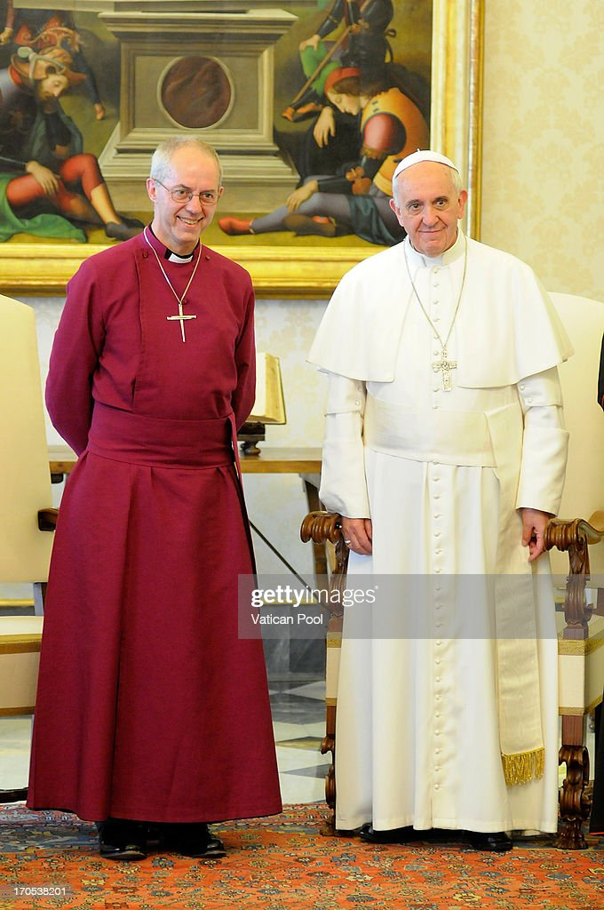 Pope Francis Meets Archbishop of Canterbury Justin Welby