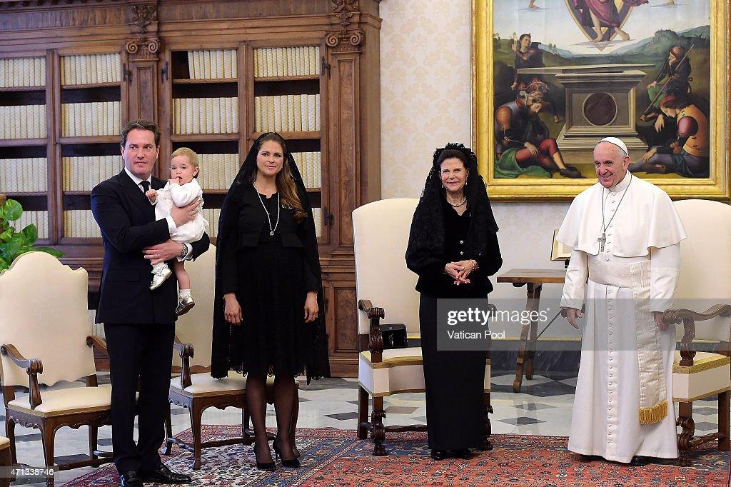 Pope Francis Meets The Swedish Royals : News Photo