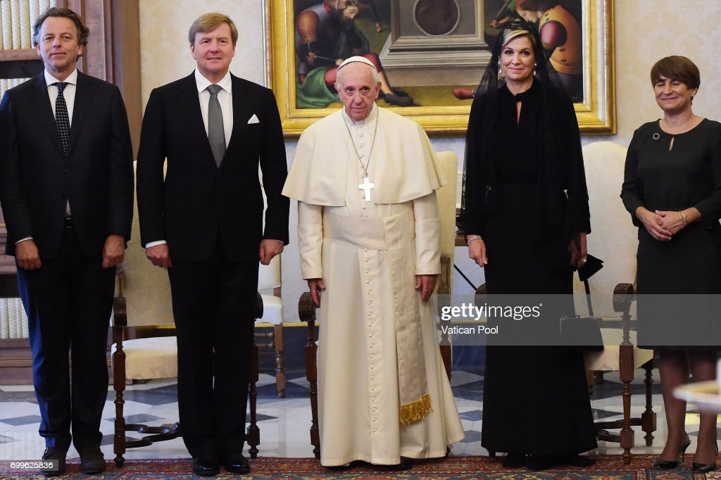Pope Meets King And Queen Of The Netherlands : News Photo