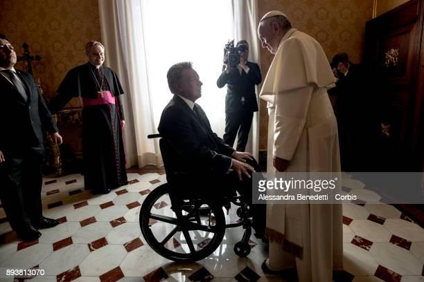 Pope Francis Meets Ecuadorian President Lenin Moreno and wife Rocio Gonzalez Navas on December 16 2017 in Vatican City Vatican
