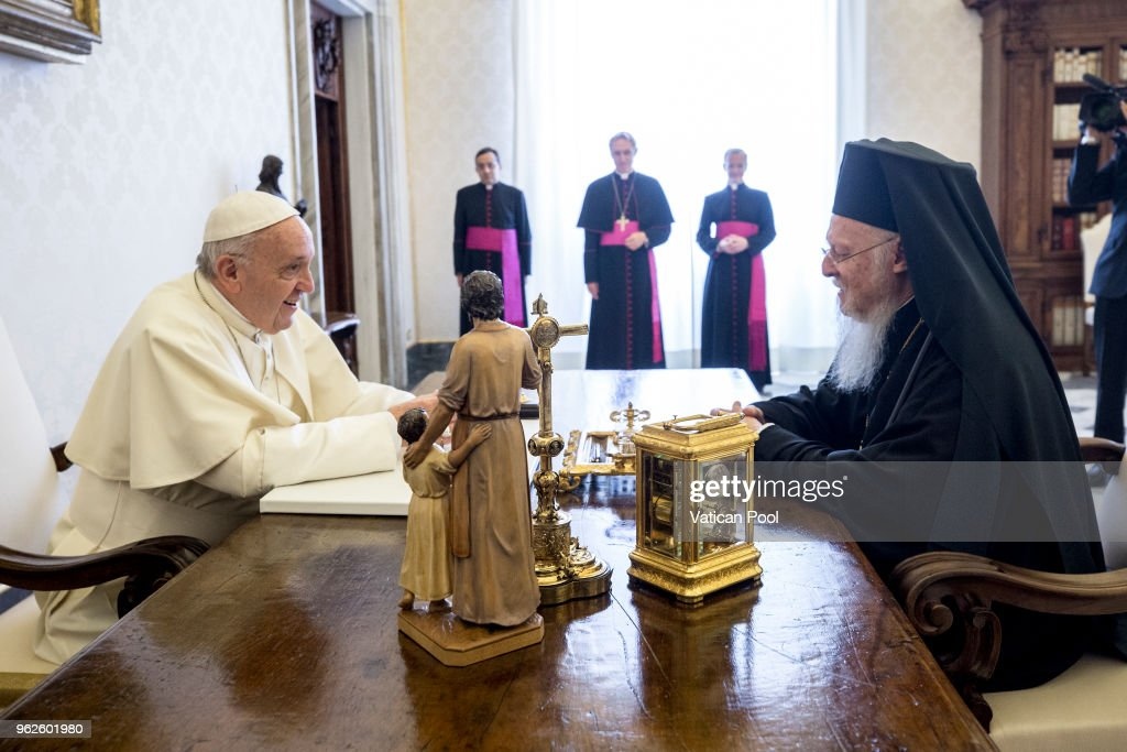 Pope Francis Meets Patriarch Bartholomew I of Constantinople