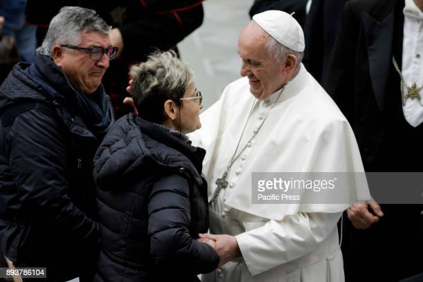Pope Francis meets followers during his Weekly General Audience in Paul VI Hall in Vatican City Vatican