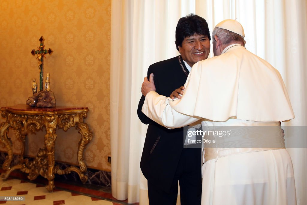 Pope Francis Meets President Of Bolivia Evo Morales
