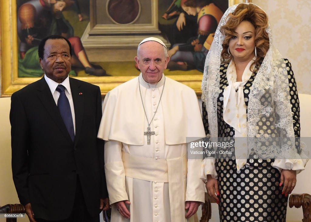 Pope Francis Meets President of Cameroon Paul Biya