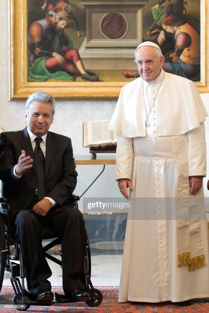 Pope Francis Meets President Of Ecuador Lenin Moreno Garces