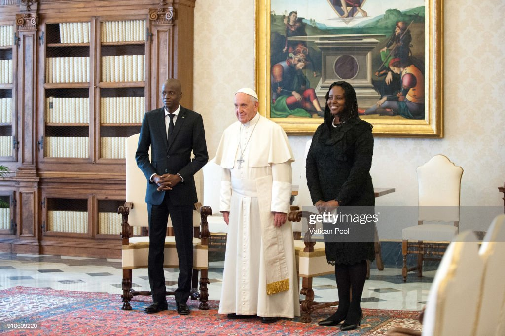 Pope Francis Meets The President Of Haiti Jovenel Moise