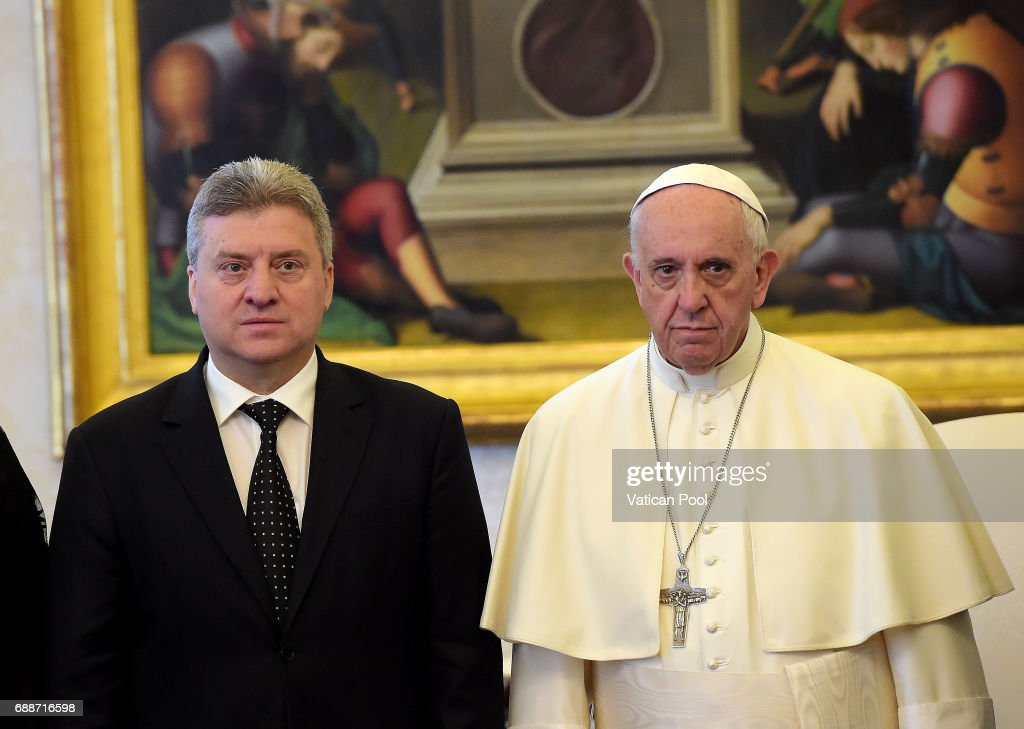 Pope Meets President Of Macedonia Gjorge Ivanov