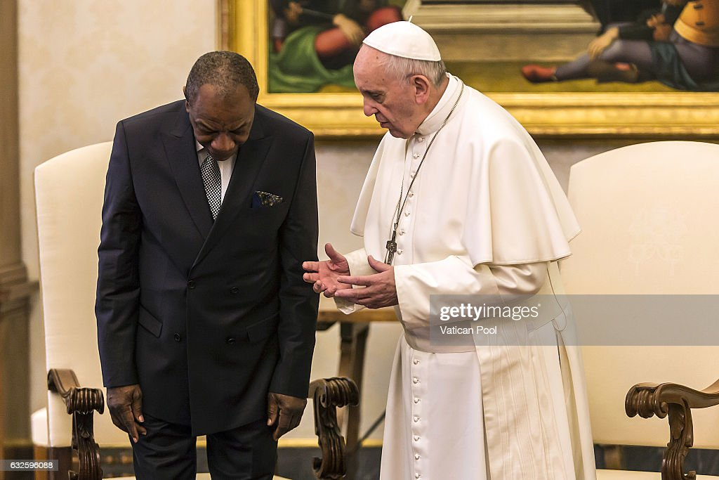 Pope Francis Meets President Of Guinea Alpha Conde