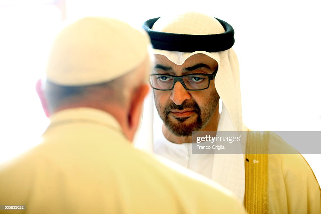 Pope Meets With General Sheikh Mohamed Bin Zayed Al Nahyan : Nieuwsfoto's