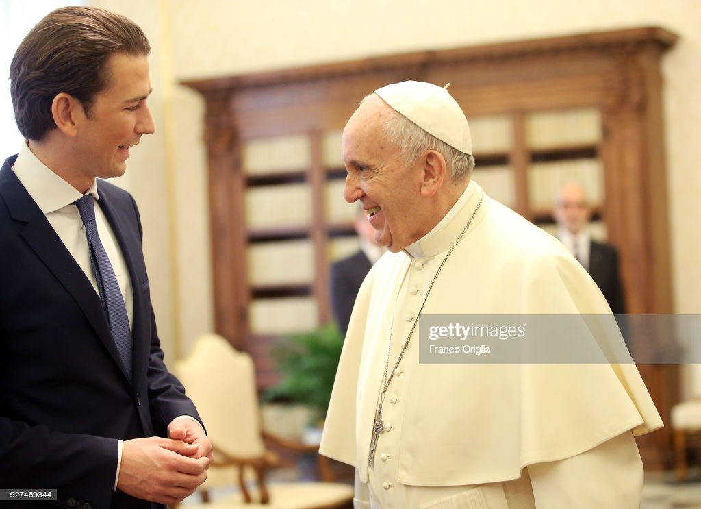 Image result for austrian president by pope francis