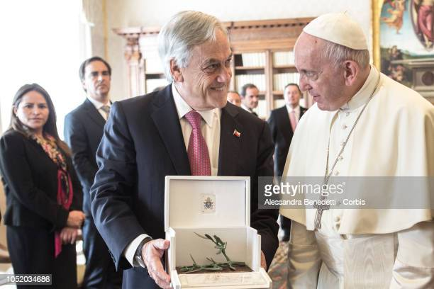 Pope Francis Meets The President Of Chile Sebastian Pinera at The Vatican on October 13 2018 in Vatican City Vatican