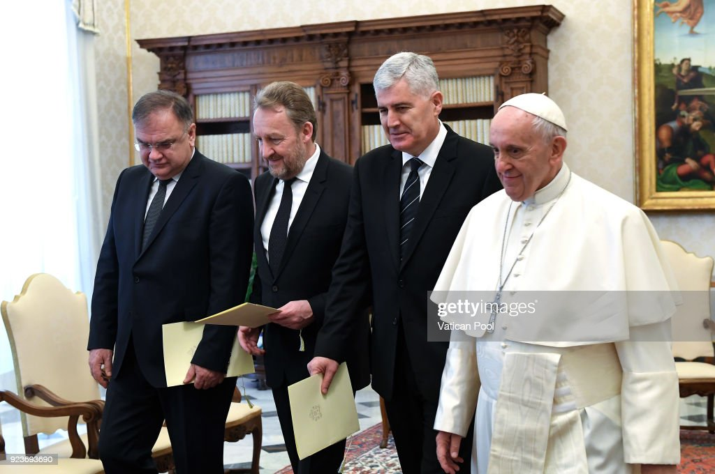 Pope Francis Meets members of the Presidency of Bosnia and Herzegovina