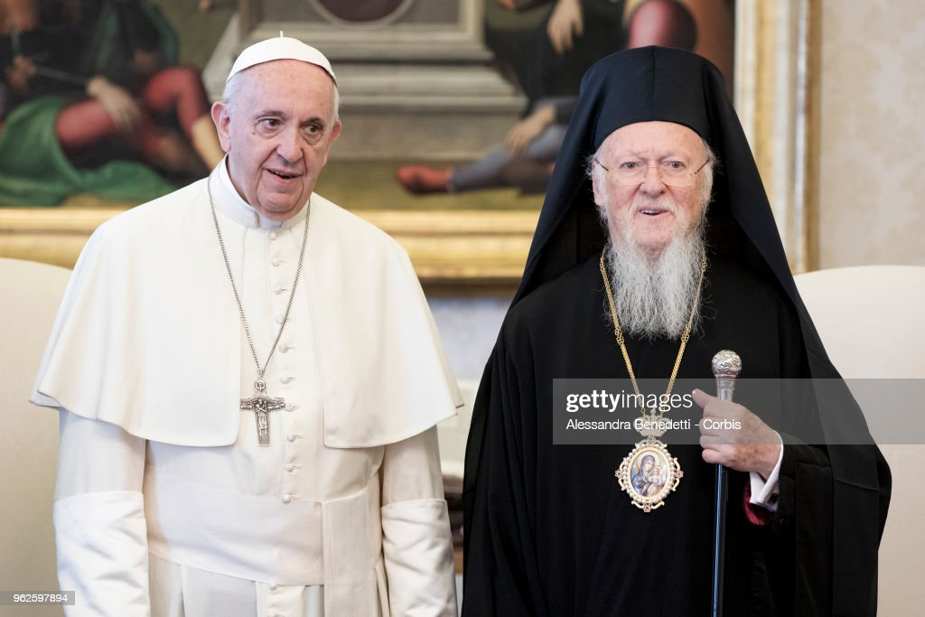 Pope Francis Meets Archbishop Of Constantinople And Ecumenical Patriarch, Bartholomew I