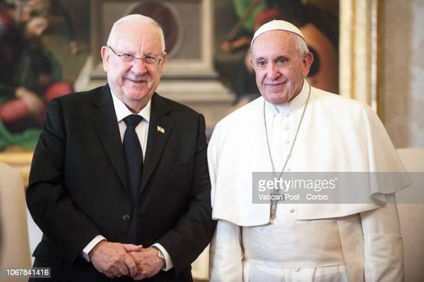 Pope Francis meets with Israeli President, Reuven Rivlin at The Vatican on November 15, 2018 in Vatican City, Vatican.