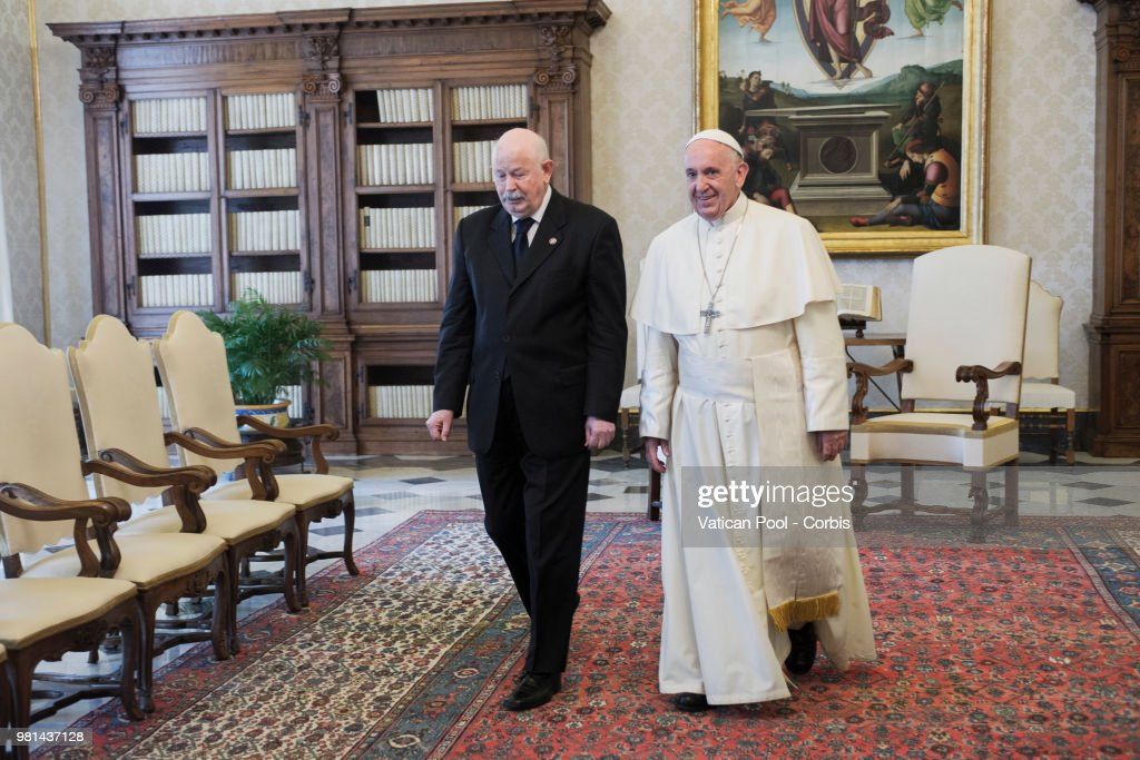 Pope Meets Lieutenant Of Grand Master Of The Sovereign Military Order Of Malta Giacomo Dalla Torre