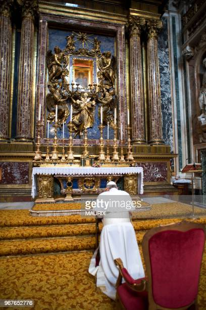Pope Francis opened his first morning on March 14 2013 as pontiff by praying at Rome's Santa Maria Maggiore basilica dedicated to the Virgin Mary a...