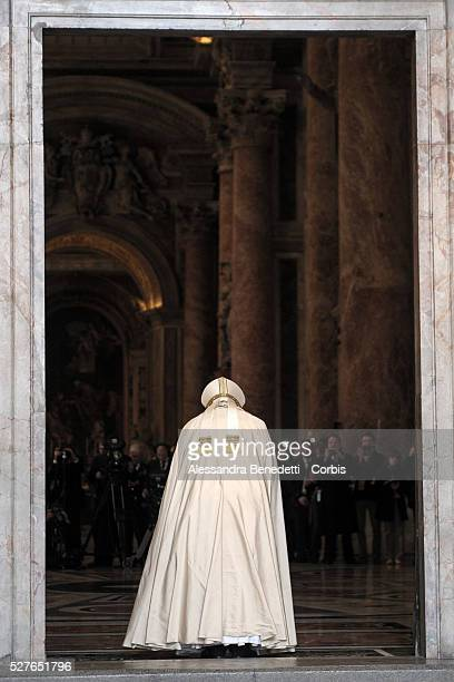 Pope Francis opens the Holy Door at St Peter's Basilica on the opening day of the Extraordinary Jubileum of Mercy at the Vatican and in the World