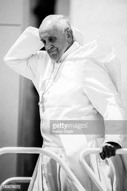 Pope Francis Pope Francis attends his weekly audience in St Peter's square on June 26 2013 in Vatican City Vatican After the success of his Social...