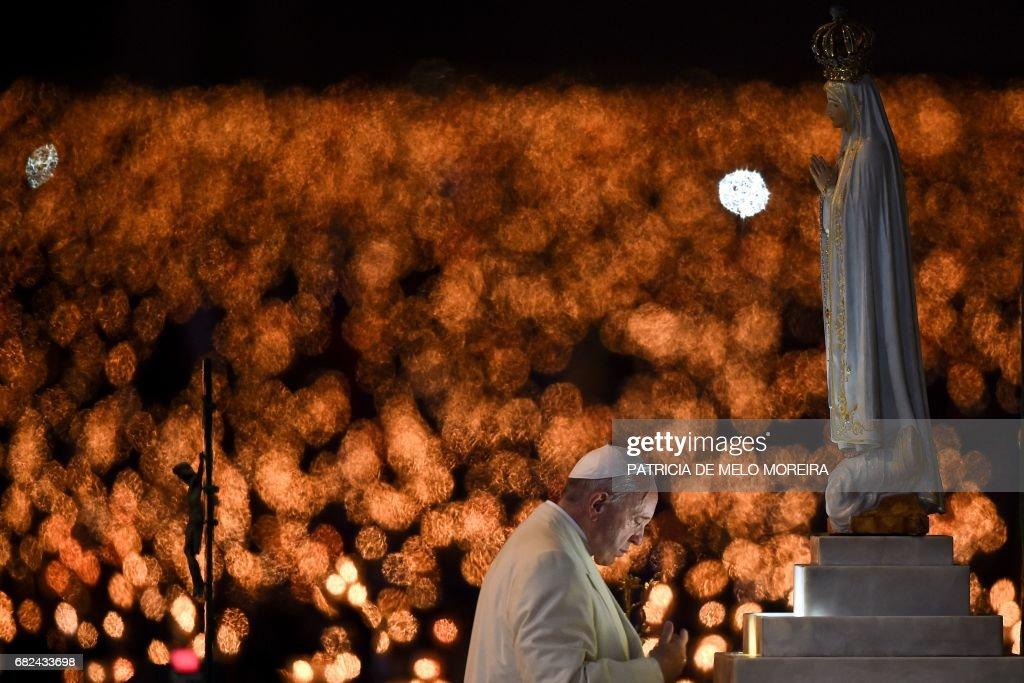 PORTUGAL-VATICAN-RELIGION-FATIMA-POPE : News Photo