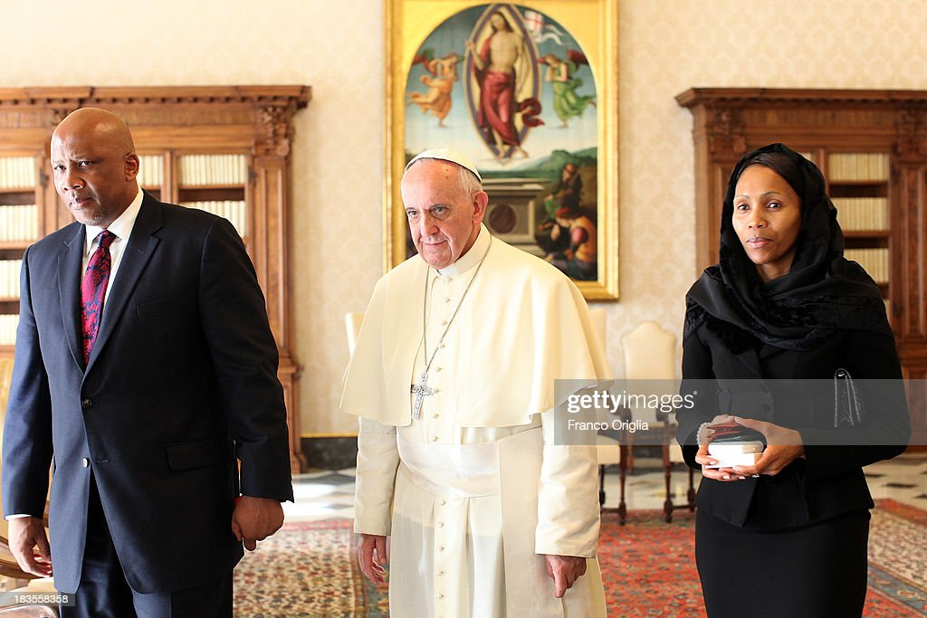 Pope Francis Meets The King of Lesotho