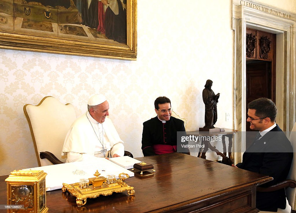 Pope Francis Meets President of the United Nations General Assembly Vuk Jeremic