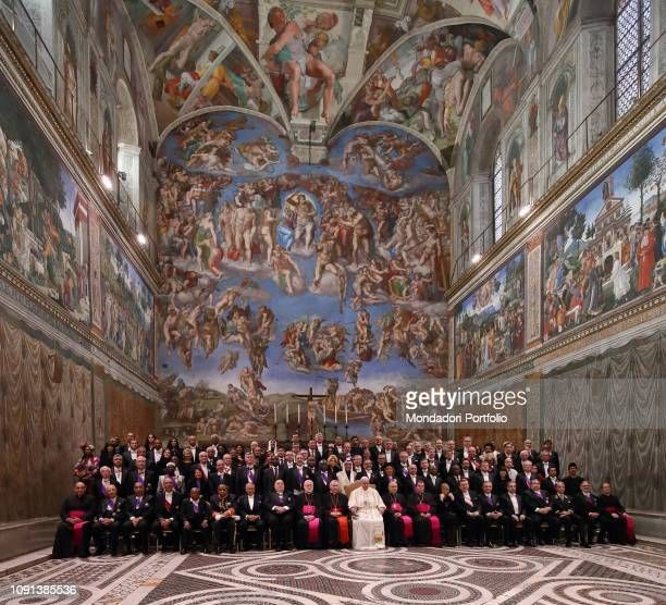 Pope Francis receives the Diplomatic Corps at St Peter's Basilica Vatican City January 7th 2019