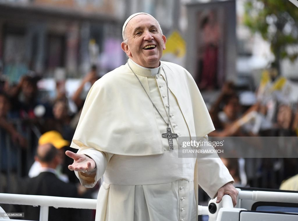 Pope Francis on a seven-day trip to Chile and Peru