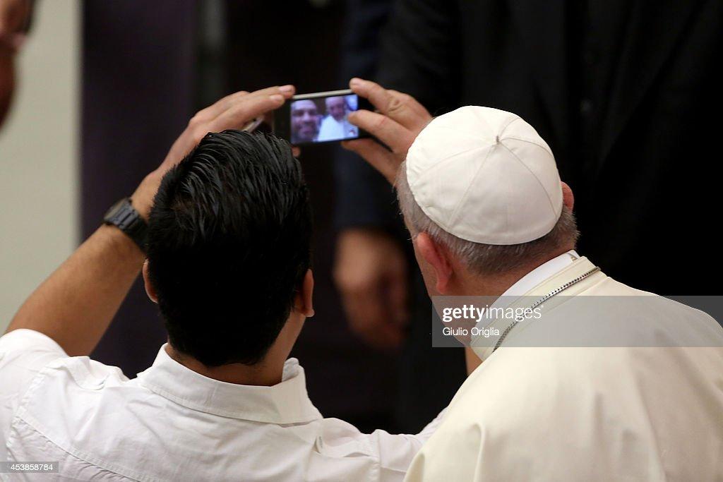 Pope Francis Receives San Lorenzo Team : News Photo