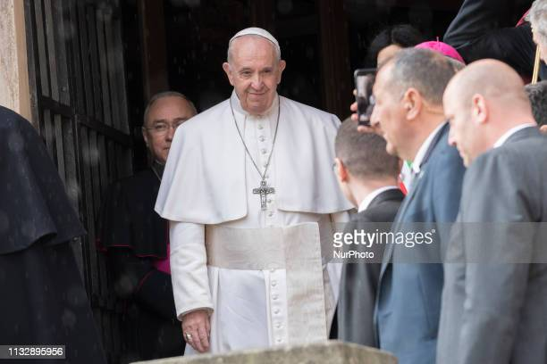 Pope Francis visit Campidoglio in Rome Italy'26 March 2019'