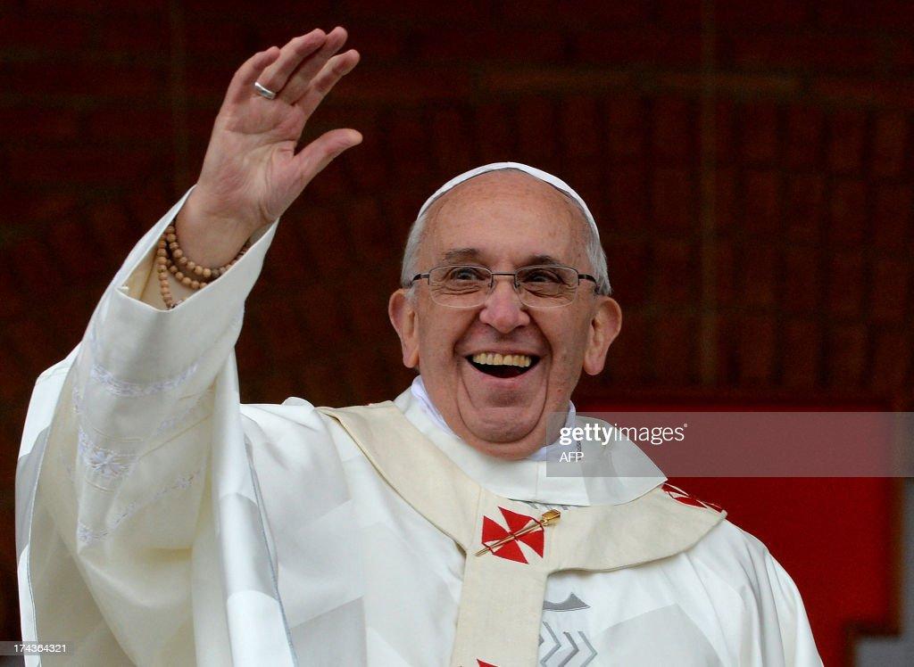 BRAZIL-POPE-WYD-APARECIDA : Foto di attualità