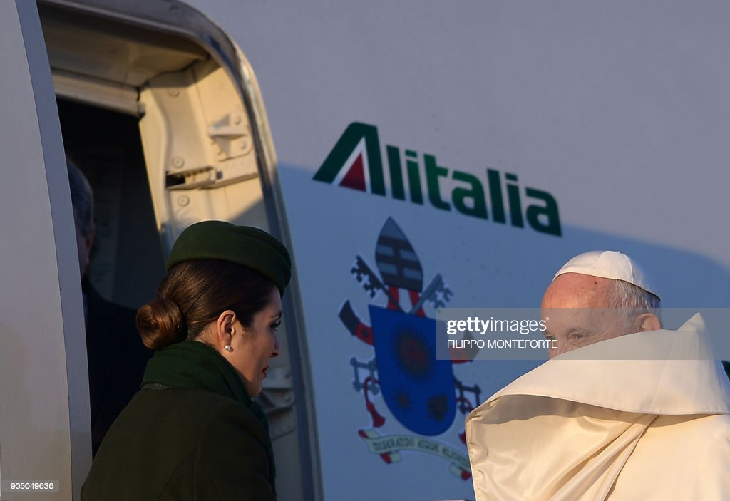 Pope Francis sets off on trip to Chile and Peru
