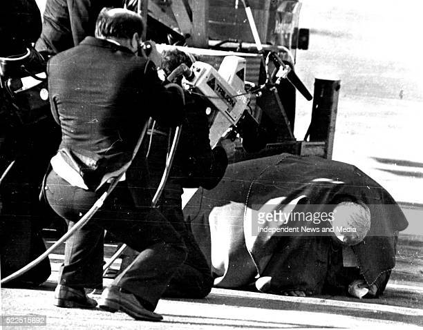 Pope John Paul 11 kisses the ground on arrival at Dublin airport at the start of his Papal visit