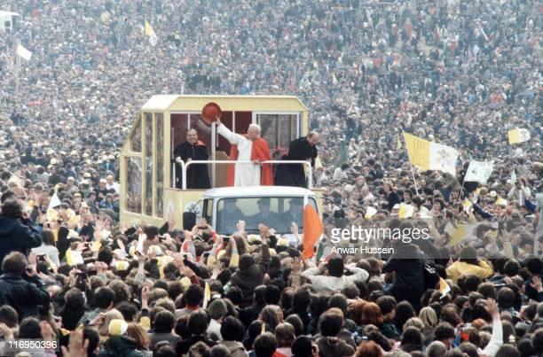 Pope John Paul II during his visit to Ireland in September 1979