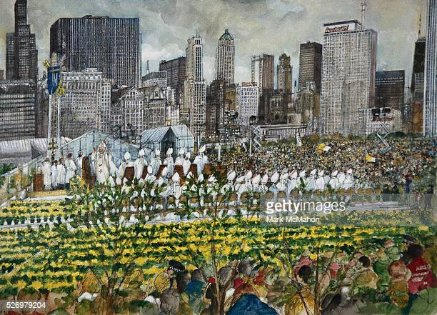 Pope John Paul II Mass in Grant Park Chicago by Franklin McMahon