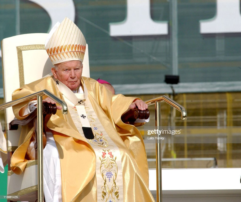 Pope John Paul II Gives Open Air Mass in Madrid - May 4, 2003