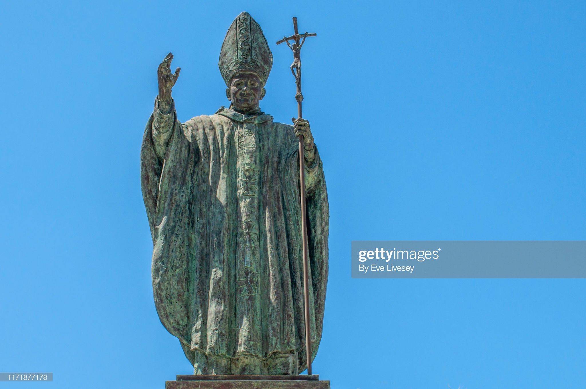 Pope John Paul II Statue - Jerez de la Frontera : ストックフォト