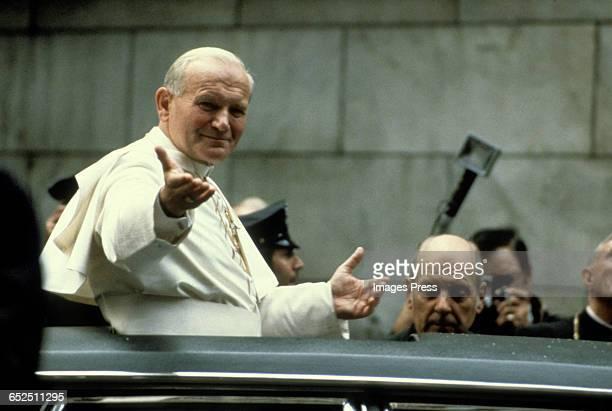 Pope John Paul II visits New York City circa 1979 in New York City