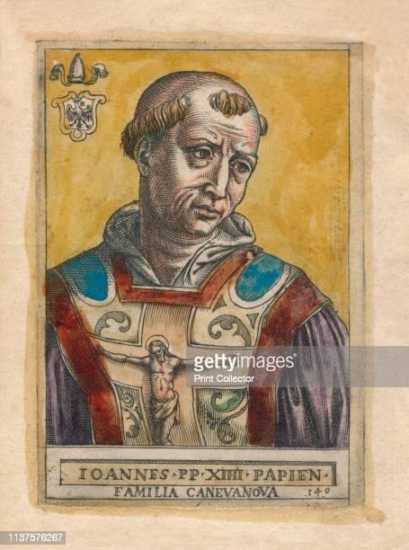 Pope John XIV. 'Ioannes PP XIIII Papien - Familia Canevanova'. Portrait of Pope John XIV who was imprisoned in the Castel Sant'Angelo in Rome, where...