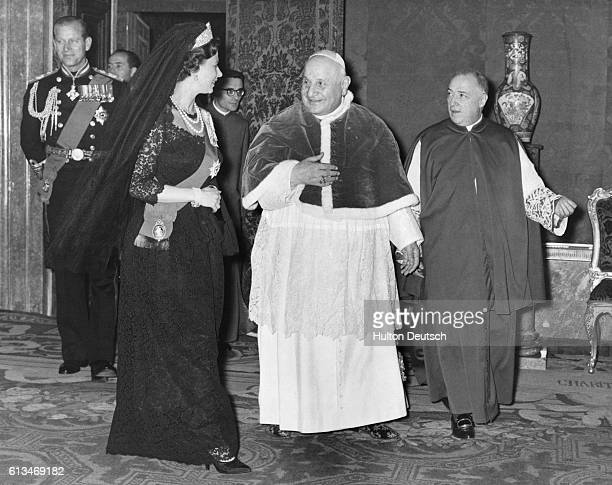 Pope John XXIII and Queen Elizabeth II