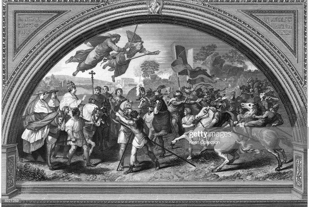 Pope Leo I Stops The Sacking Of Rome : News Photo