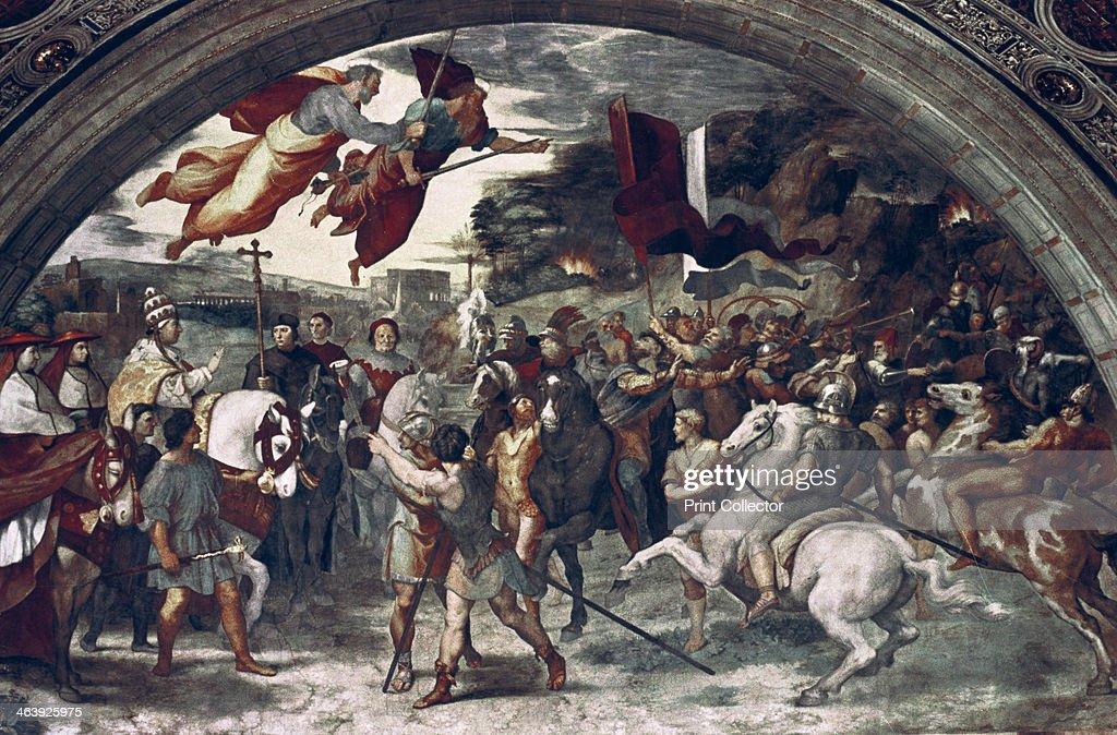 'Pope Leo I, Repulsing Attila', (detail), 1511-14. Artist: Raphael : News Photo