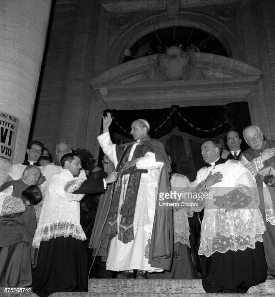 Pope Paul VI celebrates Mass in St Peter's Basilica in 1964