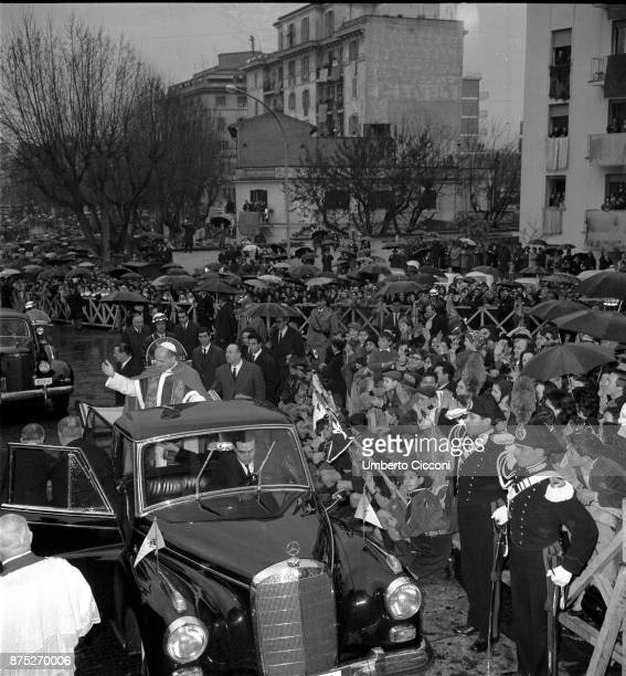 Pope Paul VI in a suburb of Rome in 1964