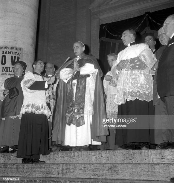 Pope Paul VI in St Peter's Basilica in 1964