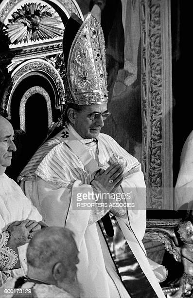 Pope Paul VI In St Peter's Church in Vatican circa 1960