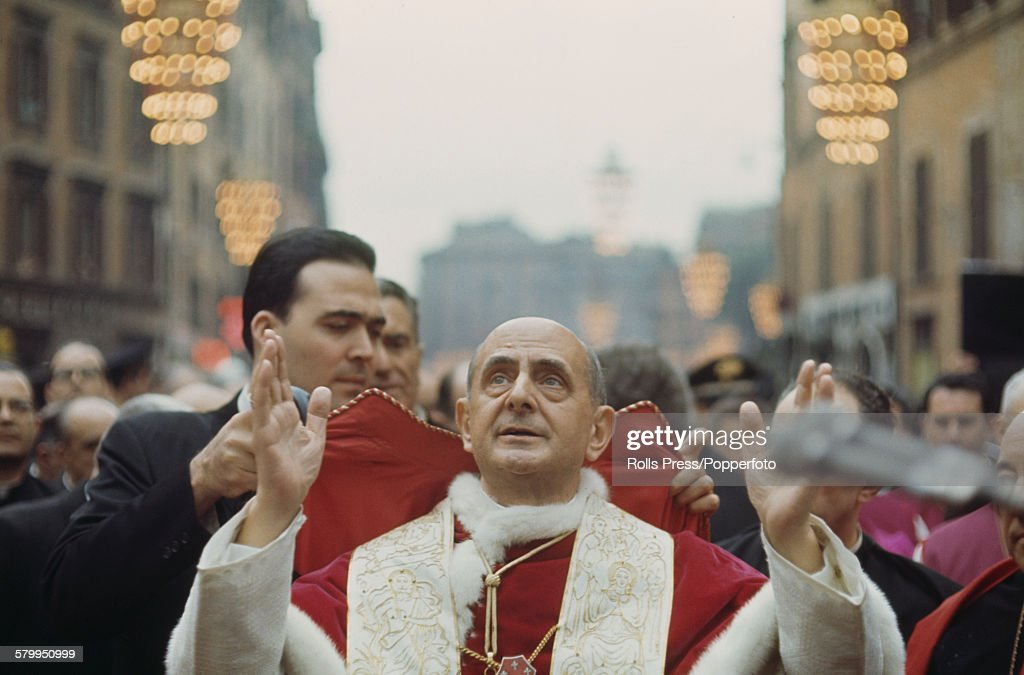 Pope Paul VI In Rome : News Photo