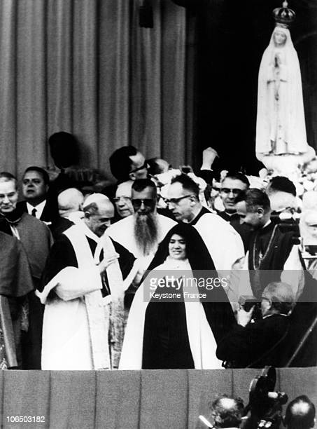 Pope Paul Vi Standing Alongside Sister Lucia Upon The 50Th Anniversary Of The Apparitions In Fatima Portugal On May 13 1967 Sister Lucie De Jesus Dos...